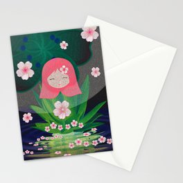 Sweet Girl Floral Magic Print Stationery Cards
