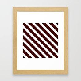Diagonal lines pattern white Framed Art Print