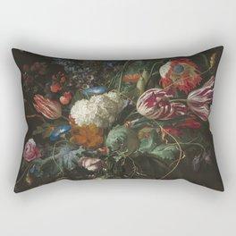 Jan Davidsz de Heem - Vase of Flowers (c.1660) Rectangular Pillow
