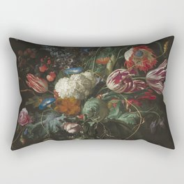 Jan Davidsz de Heem - Vase of Flowers (c.1660) Rectangular Pillow