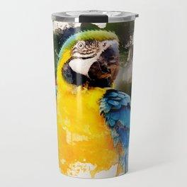 Deep Looking Macaw Travel Mug