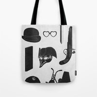 kubrick Tote Bags featuring 2011: A Kubrick Odyssey by Florent Bodart / Speakerine