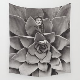 Succulent Woman Wall Tapestry