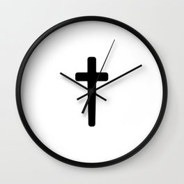 Cross - Black Wall Clock
