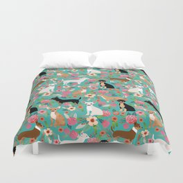 Chihuahua dog breed floral pet gifts perfect present for chihuahuas pure breed Duvet Cover