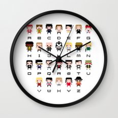 Rock Music Alphabet Wall Clock