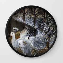 Mist in the forest Wall Clock