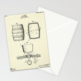 Keg or Barrel-1898 Stationery Cards