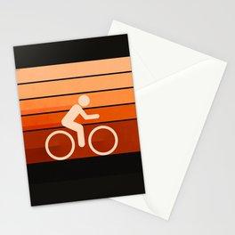 Biking Orange Stationery Cards