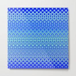 Mosaic Blue Metal Print