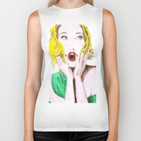 scream Biker Tanks featuring Scream by Giulia Moscatelli