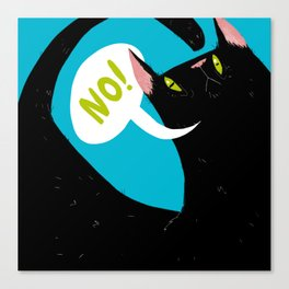 "Mr. Meow ""no"" Cat Canvas Print"