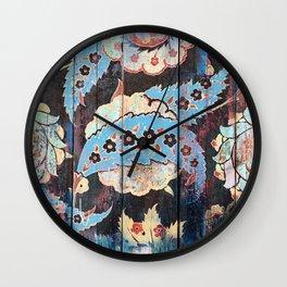 BUSTANI WOODEN MOROCCAN ORNAMENT PATTERN Wall Clock