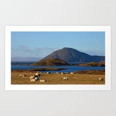 Lake Myvatn Iceland Art Print