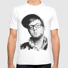 Mayer Hawthorne White MEDIUM Mens Fitted Tee