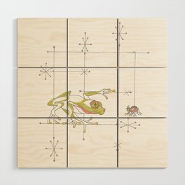 Whimsical Frog & Spider Wood Wall Art