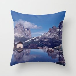 ESCAPE #2 #BLUE #Original - Peace in the Mountains Throw Pillow