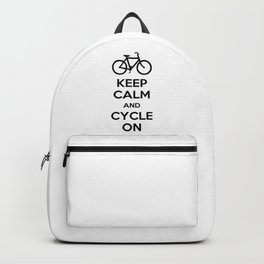 Keep Calm and Cycle On Backpack