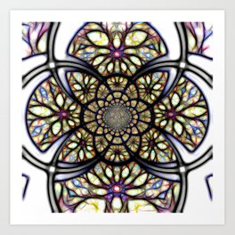 The Art Of Stain Glass Art Print