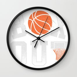 Basketball Coach Shirt Box Out rebound defense Wall Clock