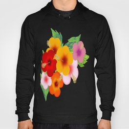 Colorful Hibiscus Hoody