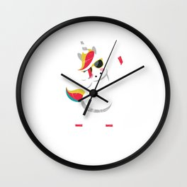 Cool Dabbing Unicorn With Glasses Dabber Dab Wall Clock