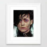 edward scissorhands Framed Art Prints featuring Edward Scissorhands by Vlad Rodriguez