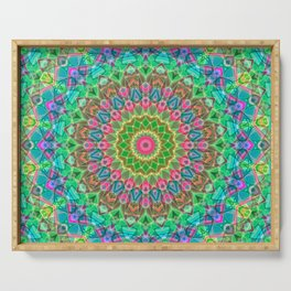 Geometric Mandala G18 Serving Tray