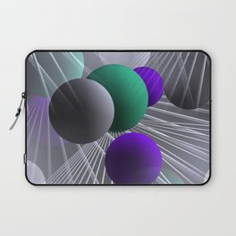 crazy lines and balls -1- Laptop Sleeve