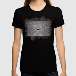 Mourning Dove Asleep in Snowfall T-shirt