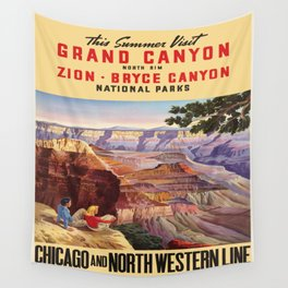 Vintage poster - Grand Canyon Wall Tapestry