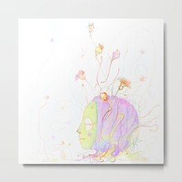 be flower Metal Print