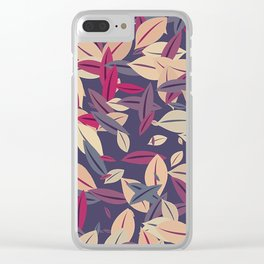 Autumn Leaves 2 Clear iPhone Case