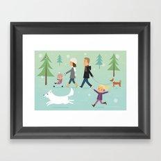 Promenade en famille Framed Art Print