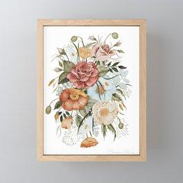 Roses and Poppies Framed Mini Art Print