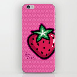 Strawberry - Laura Wayne Design iPhone Skin