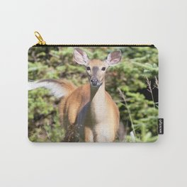 Watercolor Deer, Eastern Whitetail 01, Cape Breton, Canada, The Tail Flick Carry-All Pouch