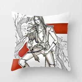 lusung blade and soul korean boy snake Throw Pillow