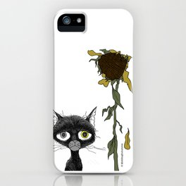 Sad is one complicated emotion of a cat! iPhone Case