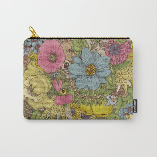 the wild side - spring tones Carry-All Pouch