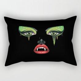 Green eyes vampire face Rectangular Pillow