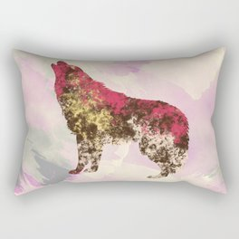 Abstract Wolf Rectangular Pillow