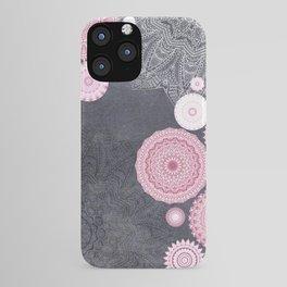 FESTIVAL FLOW - PINK GREY iPhone Case
