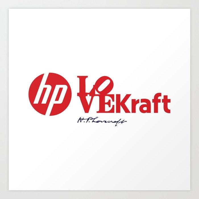 Hp.LOVE.Kraft Art Print
