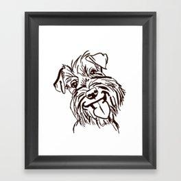 The happy Schnauzer dog love of my life! Framed Art Print