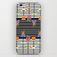 Flowers and Stripes iPhone Skin