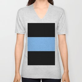 Just three colors 11 Black,blue,black Unisex V-Neck
