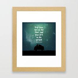 Keep Your Eyes on the Stars Framed Art Print