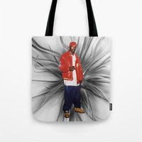 2pac Tote Bags featuring Big L  by Gold Blood