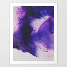 Violet Aura Art Print
